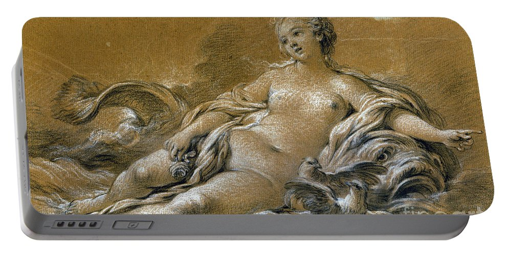 18th Century Portable Battery Charger featuring the photograph Boucher: Venus by Granger