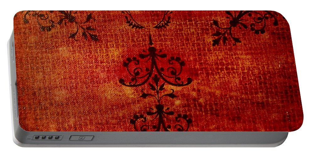 Red Portable Battery Charger featuring the painting Boudoir Three by Laurette Escobar