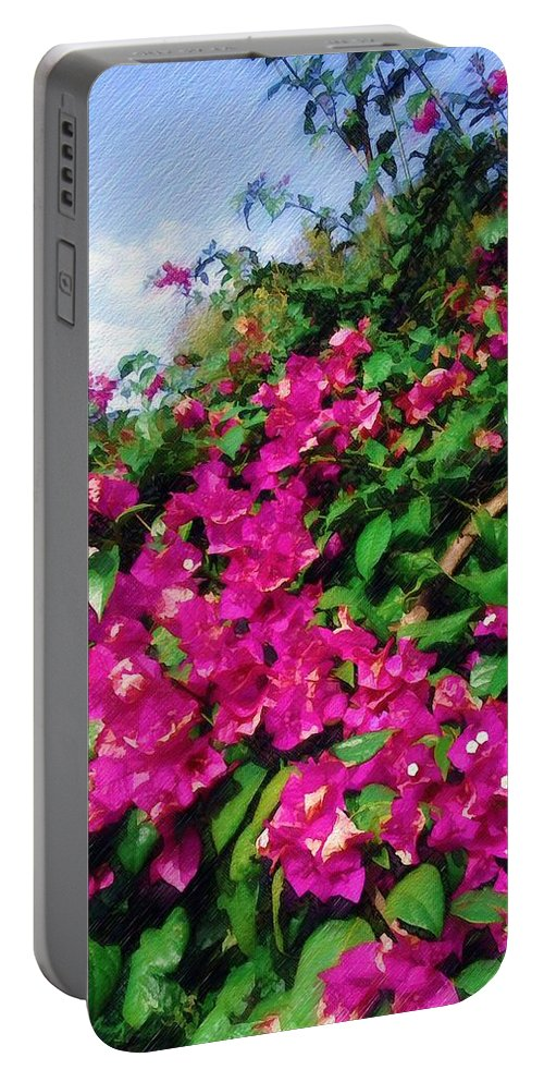Bougainvillea Portable Battery Charger featuring the photograph Bougainvillea by Sandy MacGowan