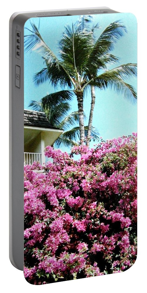 1986 Portable Battery Charger featuring the photograph Bougainvillea by Will Borden