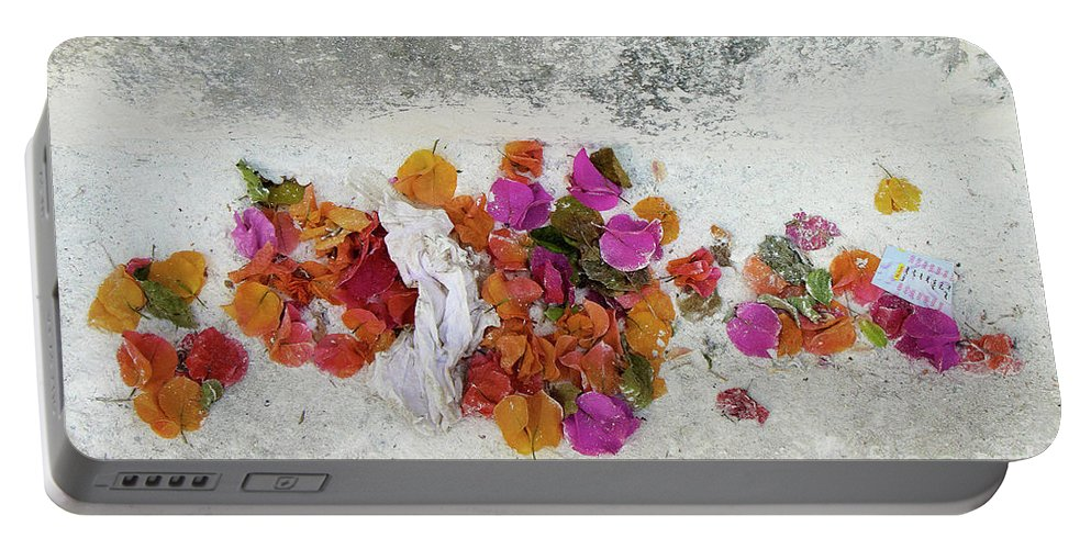 Insight Portable Battery Charger featuring the photograph Bougainvillea's Last Reunion by Marc Nader