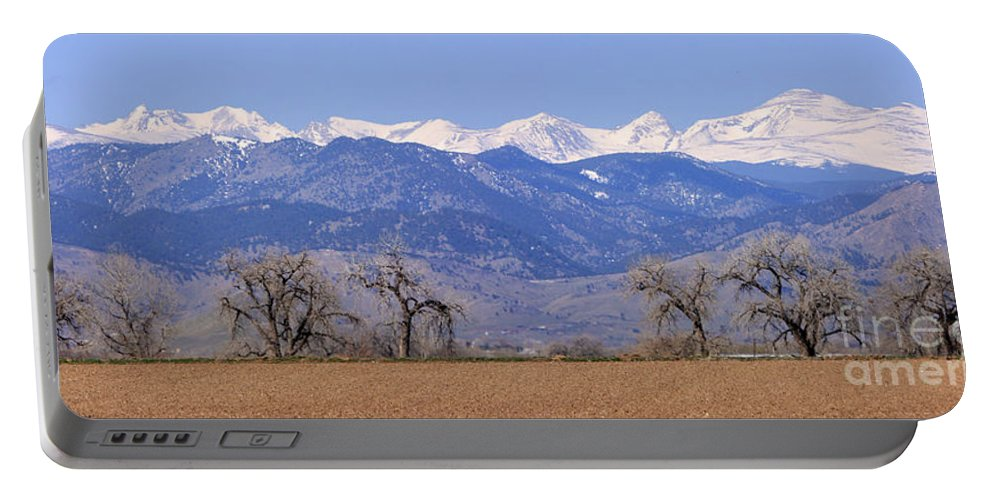 Boulder Portable Battery Charger featuring the photograph Boulder County Colorado Panorama by James BO Insogna