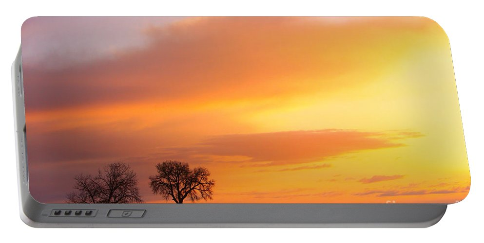 Sunrise Portable Battery Charger featuring the photograph Boulder County Sunrise by James BO Insogna