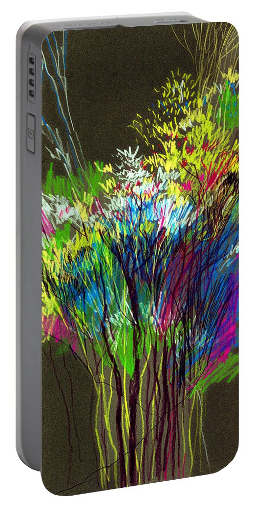 Flowers Portable Battery Charger featuring the painting Bouquet by Anil Nene