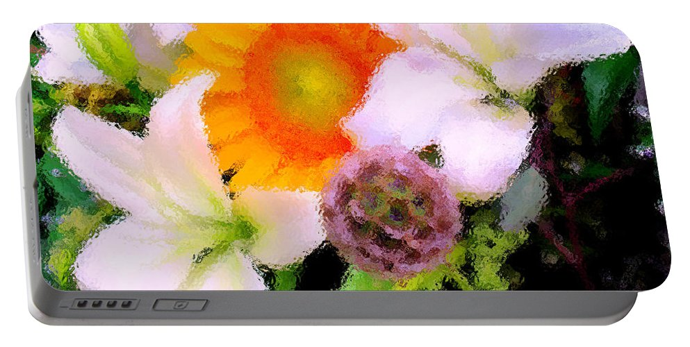 Sun Portable Battery Charger featuring the photograph Bouquet Softly There by Ian MacDonald