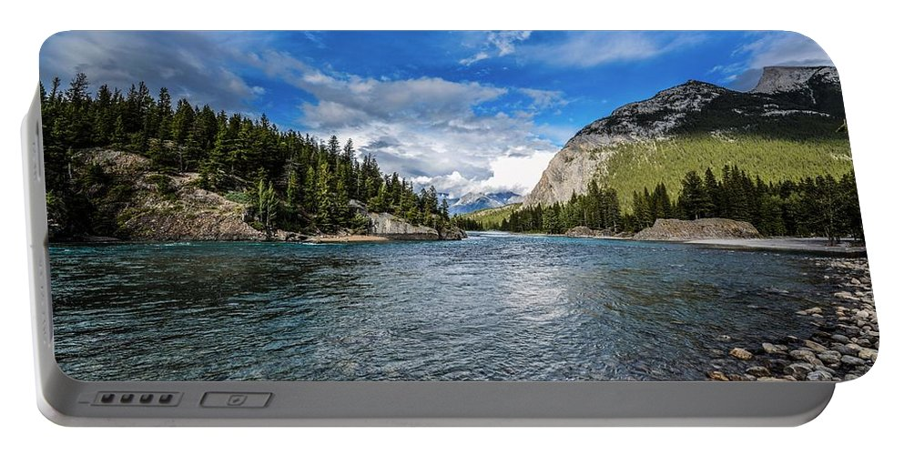 Bow River Portable Battery Charger featuring the photograph Bow River Alberta by Karl Anderson