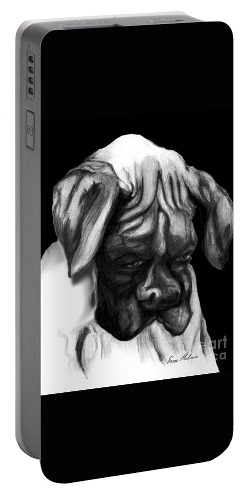Animals Portable Battery Charger featuring the painting Boxer Puppy by Portraits By NC