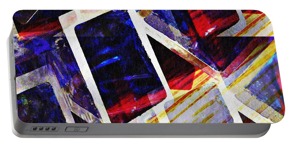 Box Portable Battery Charger featuring the digital art Boxes by Sarah Loft