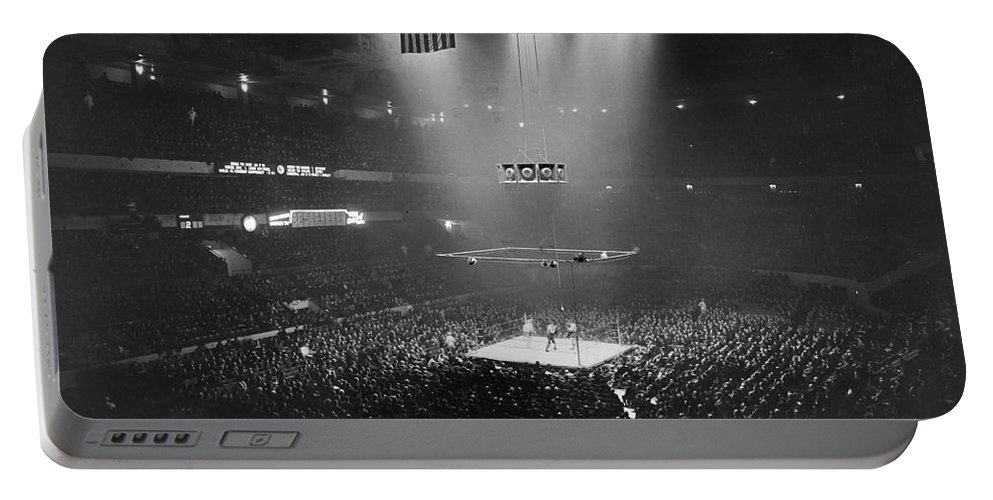 1941 Portable Battery Charger featuring the photograph Boxing Match, 1941 by Granger