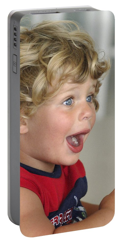 Boy Portable Battery Charger featuring the photograph Boy Surprise by Jill Reger