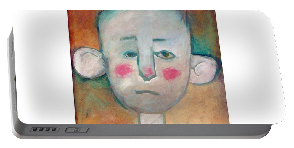 Boy Portable Battery Charger featuring the painting Boy by Tim Nyberg