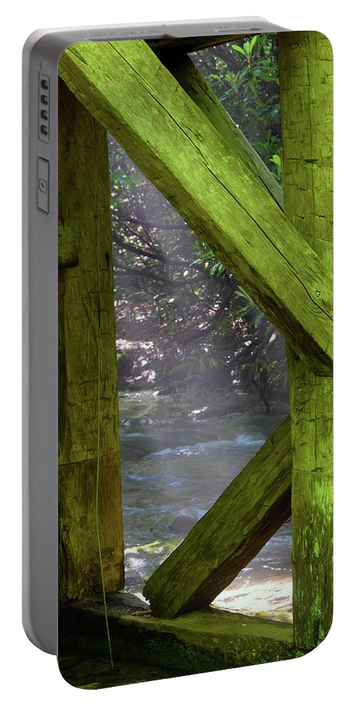 Mingus Portable Battery Charger featuring the photograph Braced With Moss by Pat Turner
