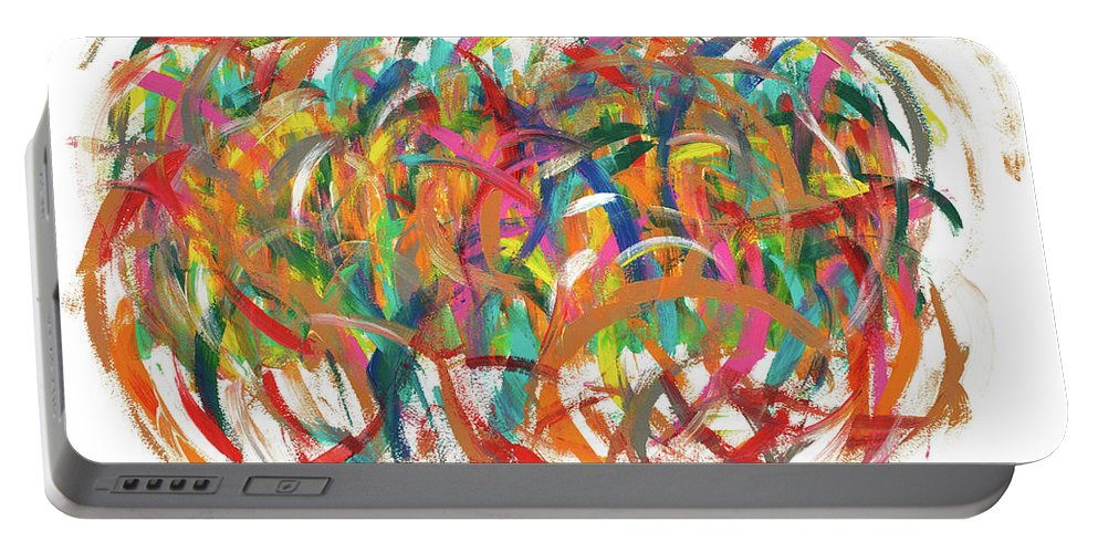 Brainstorm Portable Battery Charger featuring the painting Brainstorm by Bjorn Sjogren