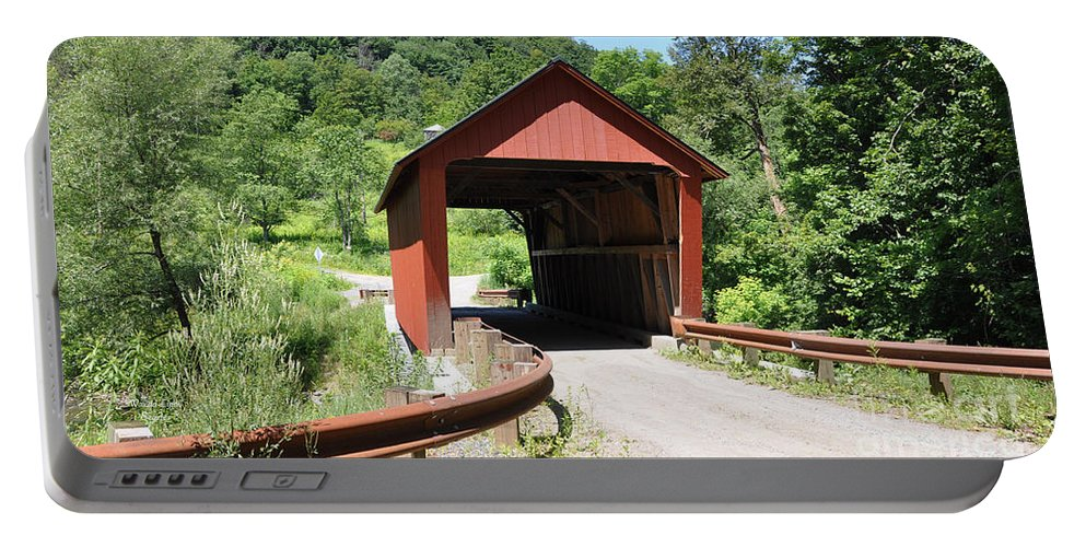 Braley Covered Bridge Portable Battery Charger featuring the photograph Braley Covered Bridge by Wanda-Lynn Searles