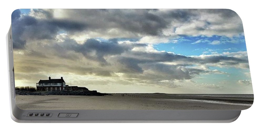 Norfolk Portable Battery Charger featuring the photograph Brancaster Beach This Afternoon 9 Feb by John Edwards