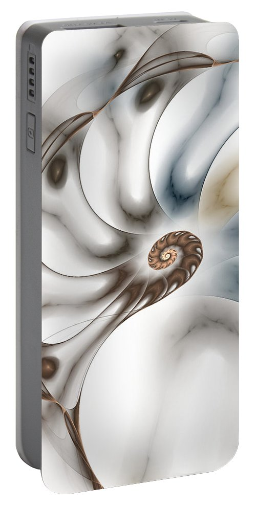 Fractal Portable Battery Charger featuring the digital art Branching Out by Amorina Ashton