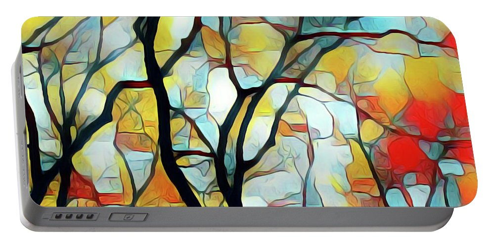 Portable Battery Charger featuring the painting Branching Out by Barry King