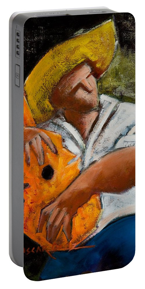 Puerto Rico Portable Battery Charger featuring the painting Bravado Alla Prima by Oscar Ortiz