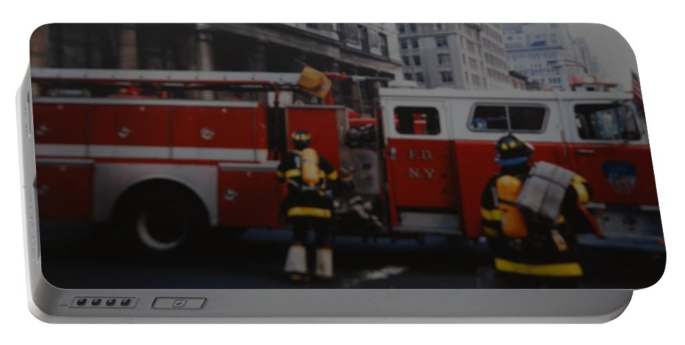 Fdny Portable Battery Charger featuring the photograph Bravest Of The Brave by Rob Hans