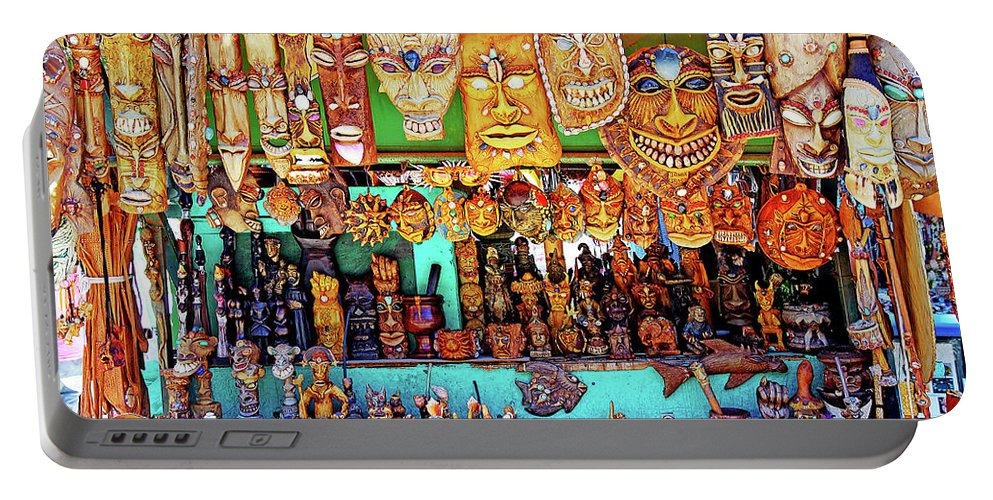 Brazil Portable Battery Charger featuring the photograph Brazilian Masks by Evan Peller
