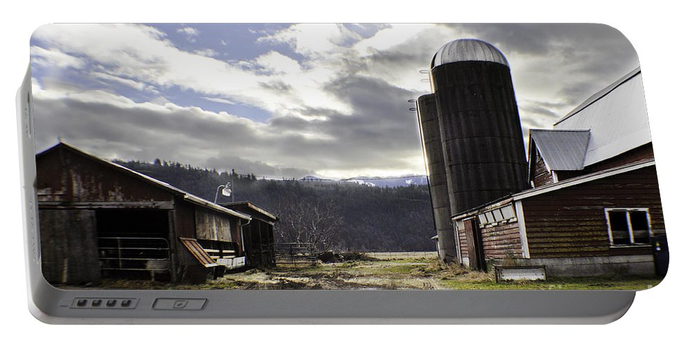 Art Portable Battery Charger featuring the photograph Break In The Clouds by Clayton Bruster