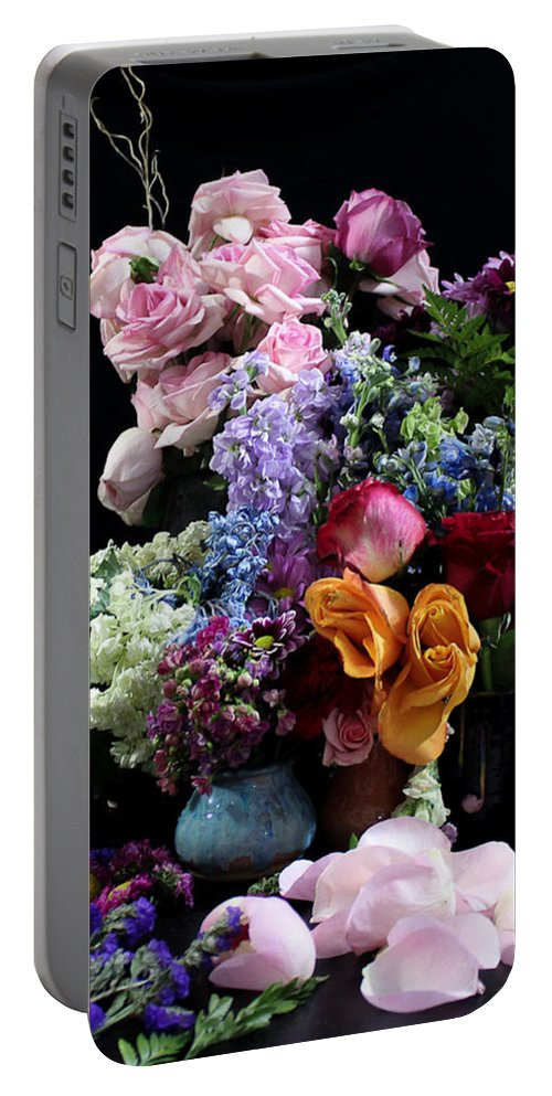 Flowers Portable Battery Charger featuring the photograph Break Into Blossom by Rachelle Eason