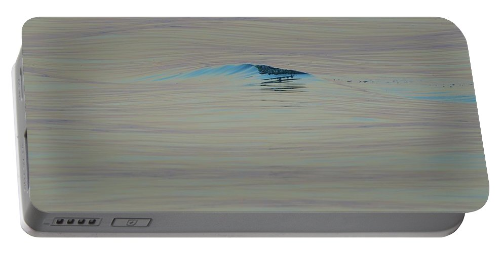 Abstract Portable Battery Charger featuring the photograph Breaking Swell by Lyle Crump