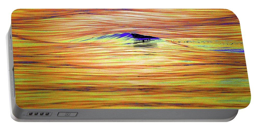 Abstract Portable Battery Charger featuring the photograph Breaking Swell Two by Lyle Crump