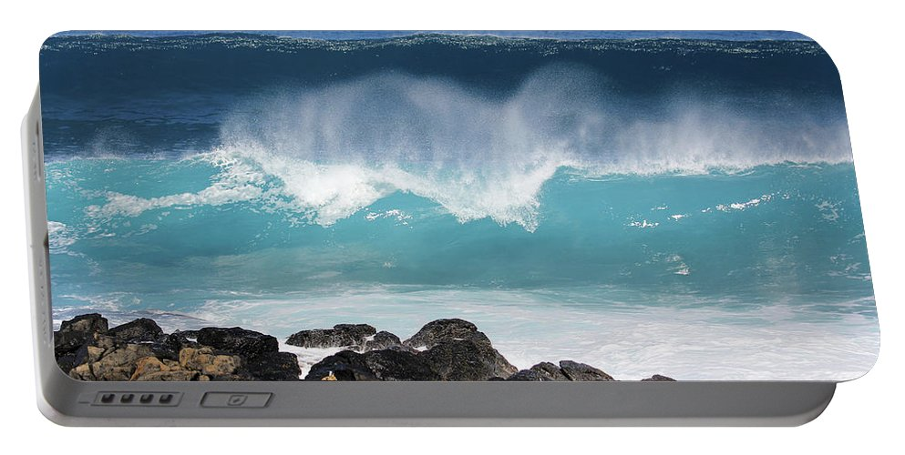 Breaking Waves Portable Battery Charger featuring the photograph Breaking Waves by Jennifer Robin