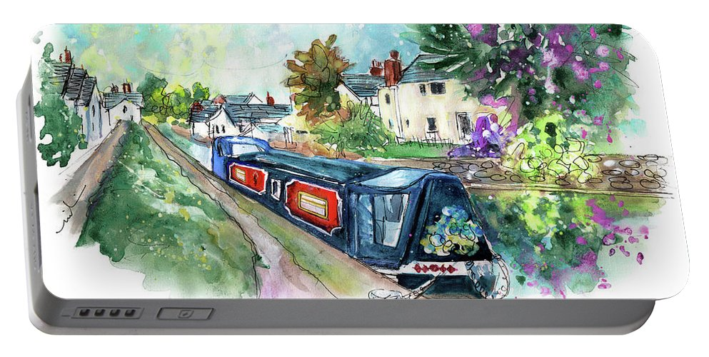 Travel Portable Battery Charger featuring the painting Brecon 02 by Miki De Goodaboom