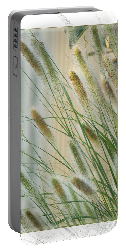 Floral Portable Battery Charger featuring the photograph Breeze by Holly Kempe