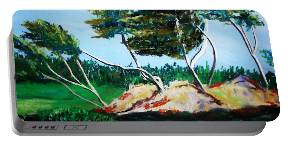 California Portable Battery Charger featuring the painting Breezy by Melinda Etzold