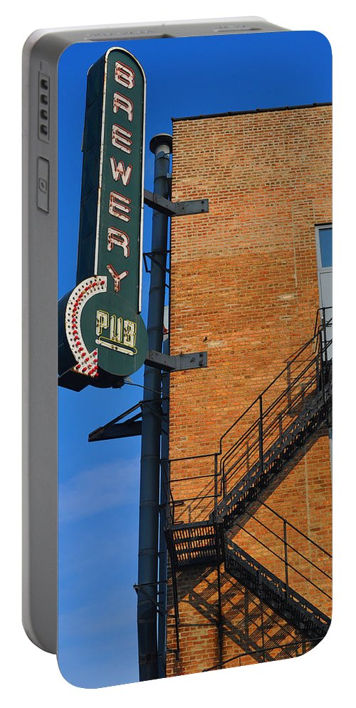 Chicago Portable Battery Charger featuring the photograph Brewery Pub by Tim Nyberg