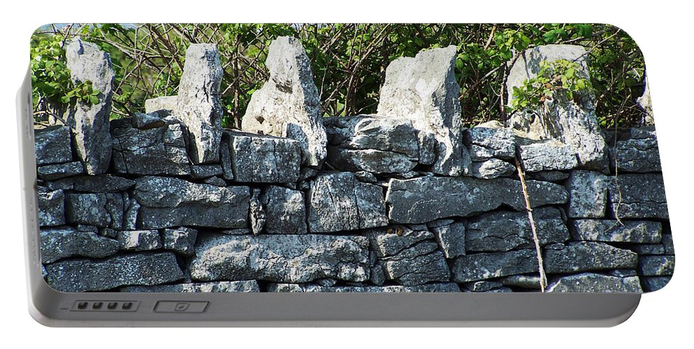 Irish Portable Battery Charger featuring the photograph Briars And Stones New Quay Ireland County Clare by Teresa Mucha