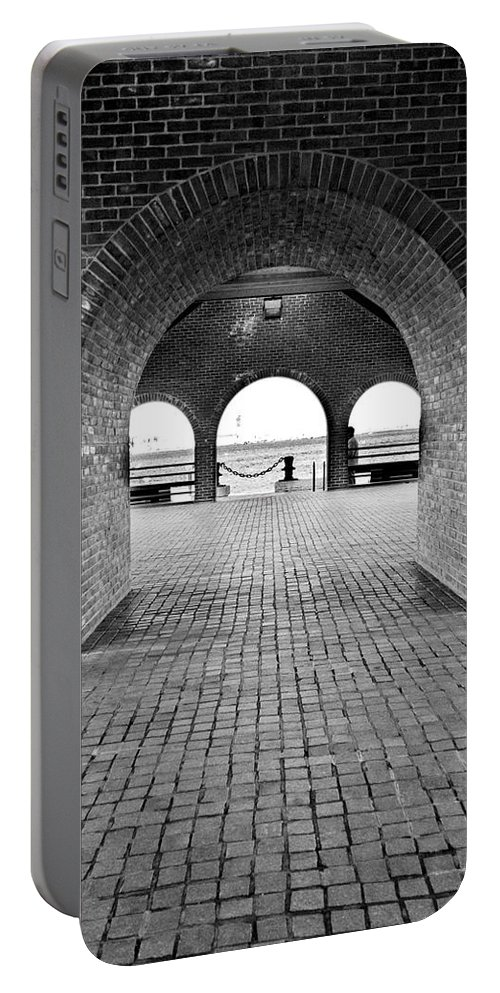 Arch Portable Battery Charger featuring the photograph Brick Arch by Greg Fortier