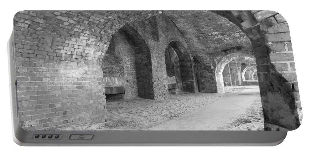 Architecture Portable Battery Charger featuring the photograph Brick Architecture by Michelle Powell