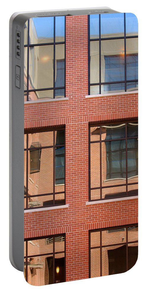 Architecture Portable Battery Charger featuring the photograph Brick Building by Jill Reger