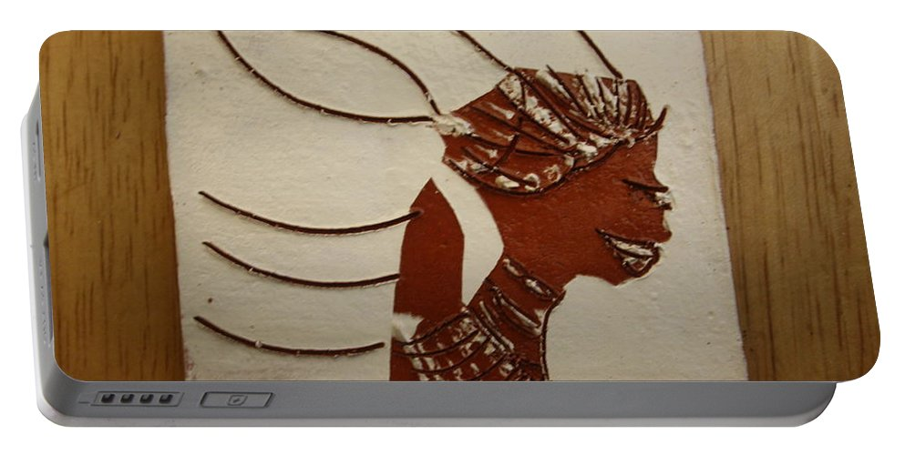 Jesus Portable Battery Charger featuring the ceramic art Bride 12 - Tile by Gloria Ssali