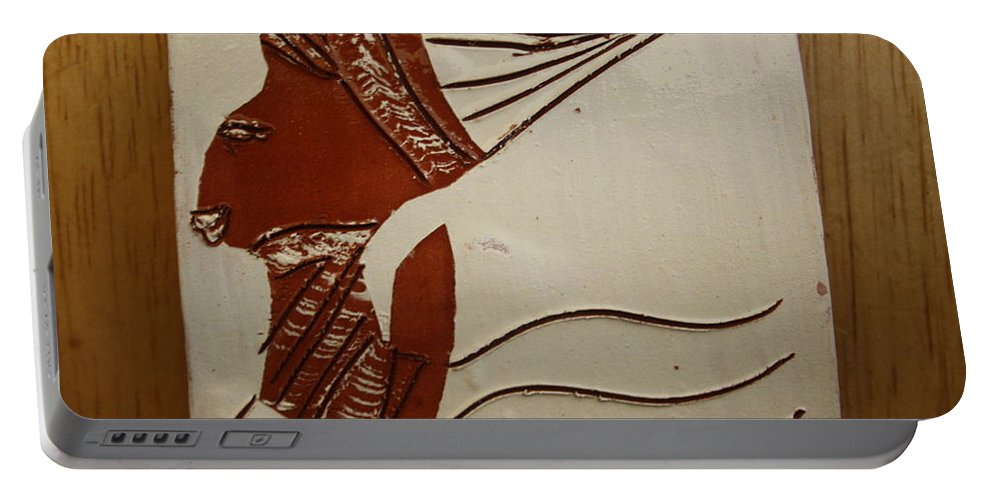 Jesus Portable Battery Charger featuring the ceramic art Bride 3 - Tile by Gloria Ssali