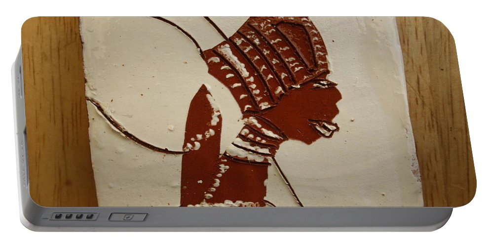 Jesus Portable Battery Charger featuring the ceramic art Bride 4 - Tile by Gloria Ssali