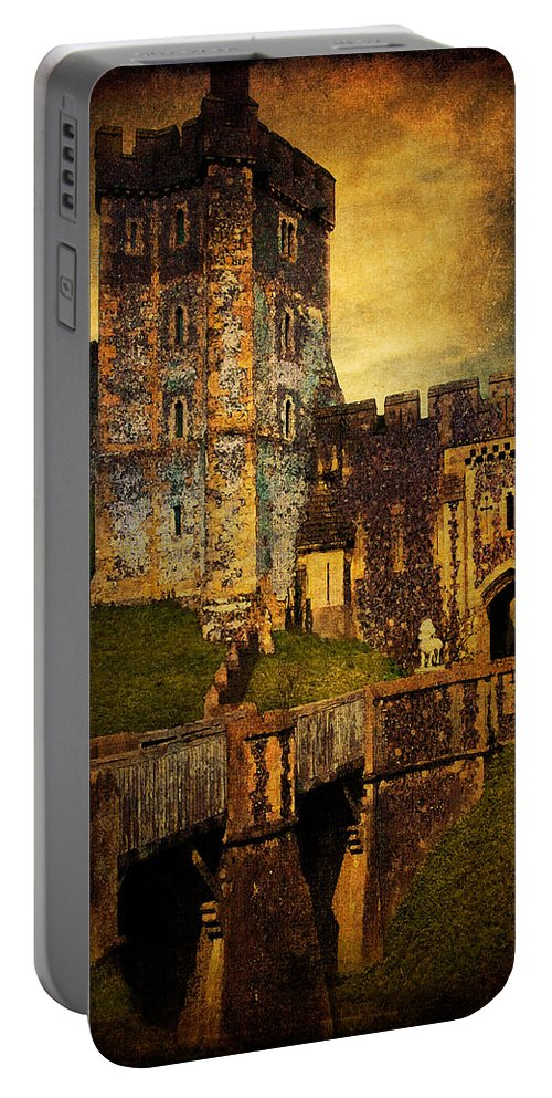 Arundel Portable Battery Charger featuring the photograph Bridge And Portal At Arundel by Chris Lord