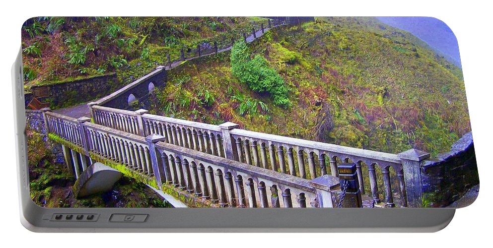 Bridge Portable Battery Charger featuring the photograph Bridge at Multnomah Falls by Lisa Rose Musselwhite