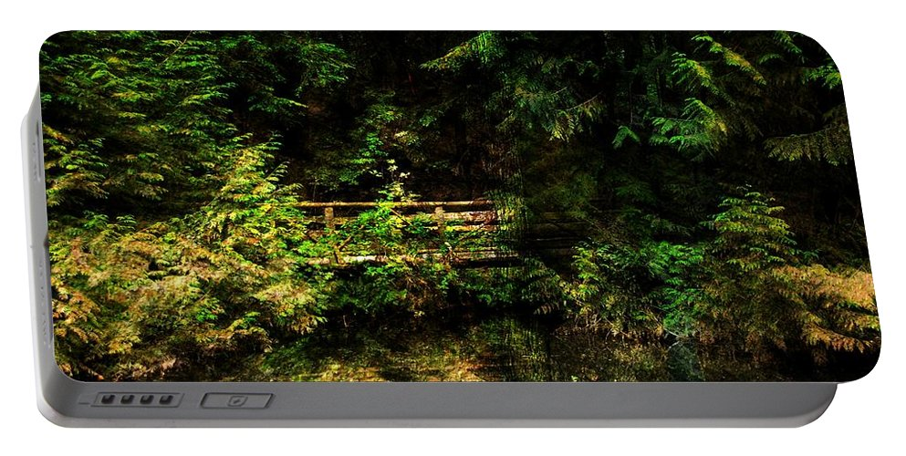 Forest Portable Battery Charger featuring the photograph Bridge In The Woods by Bill Howard