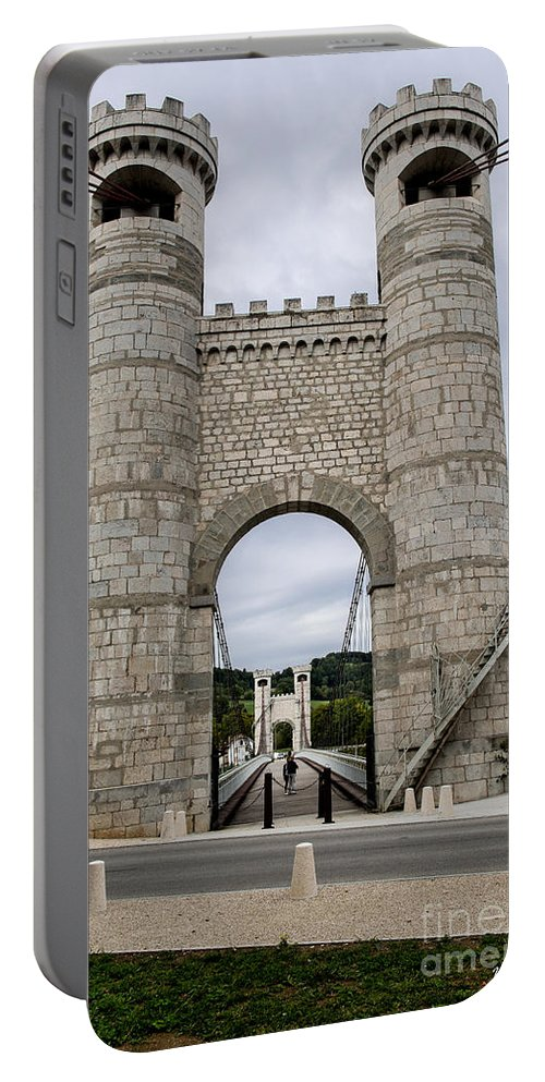 Bridge La Caille - Rhone-alpes Portable Battery Charger featuring the photograph Bridge La Caille - Rhone-alpes by Yefim Bam