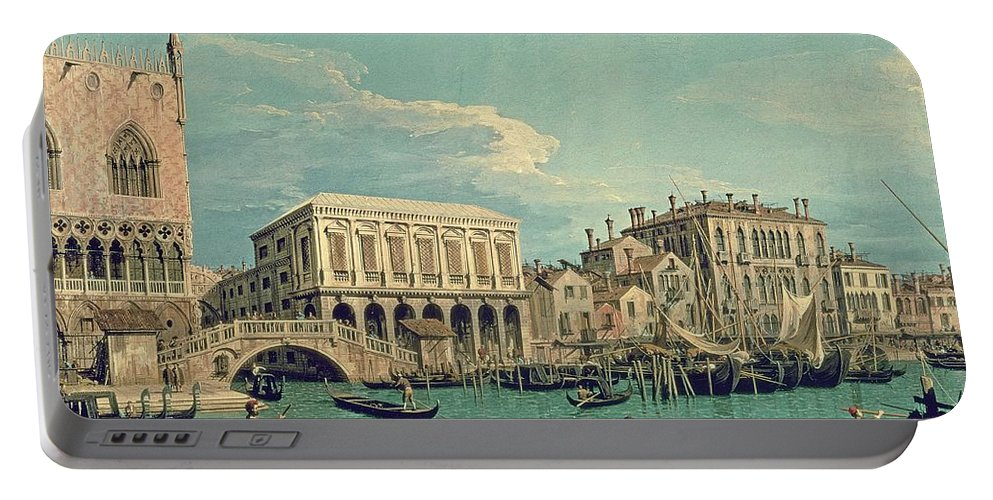 Canaletto Portable Battery Charger featuring the painting Bridge Of Sighs by Canaletto