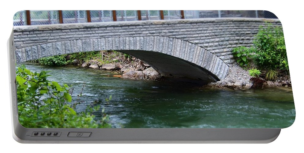 Niagara River Portable Battery Charger featuring the photograph Bridge On The Niagara River by Jennifer Craft
