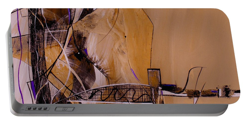 ruth Palmer Portable Battery Charger featuring the painting Bridge Over Troubled Water by Ruth Palmer