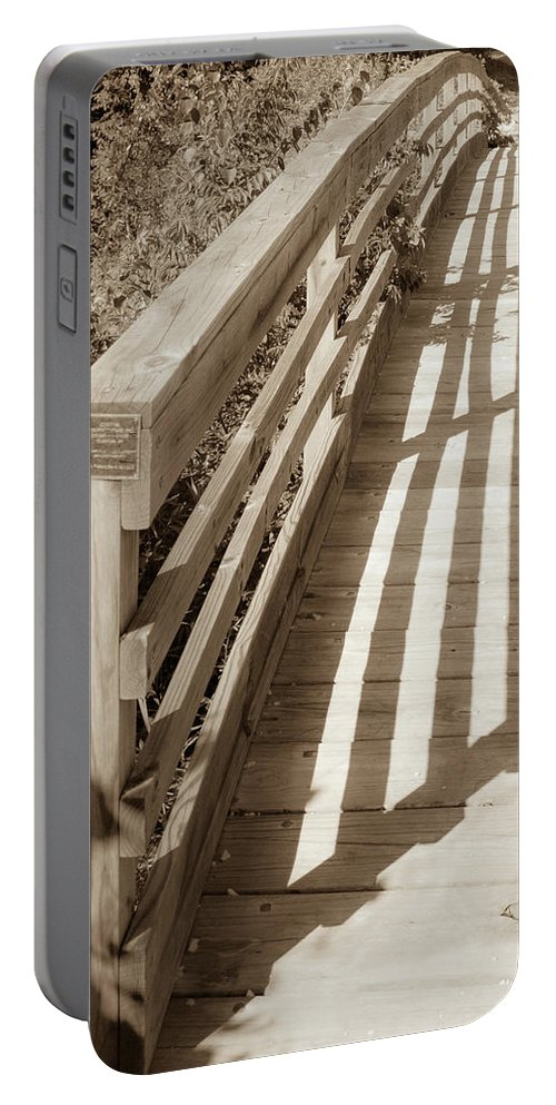 Outdoor Portable Battery Charger featuring the photograph Bridge Railing by Lori Lynn Sadelack