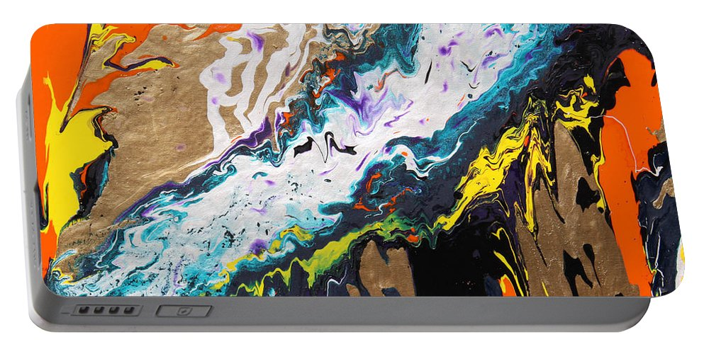 Fusionart Portable Battery Charger featuring the painting Bridge by Ralph White