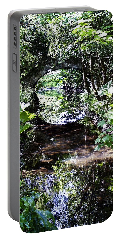 Irish Portable Battery Charger featuring the photograph Bridge Reflection At Blarney Caste Ireland by Teresa Mucha